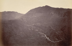 General view of Khyber from Sarkai Hill looking towards Ali Musjid, taken before advance.